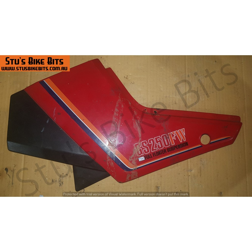GS250FW - LH Side Cover RED