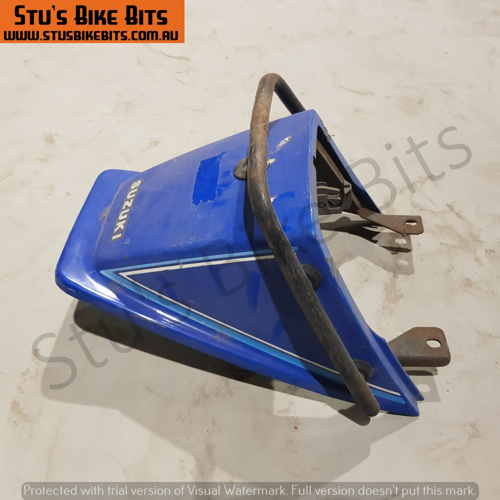 GSX250 - Rear ducktail fairing with grab handle BLUE #2