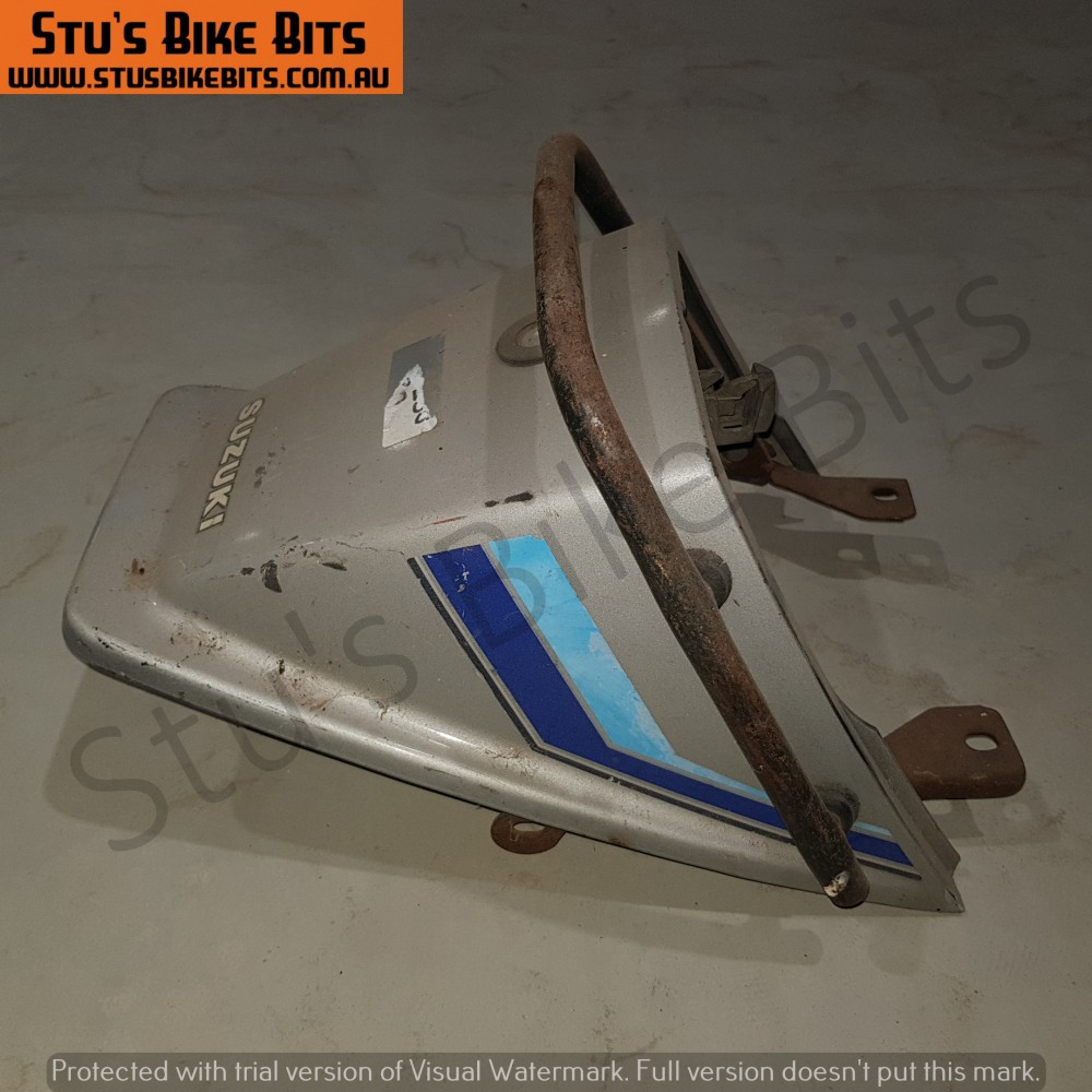 GSX250 - Rear ducktail fairing with grab handle SILVER #1