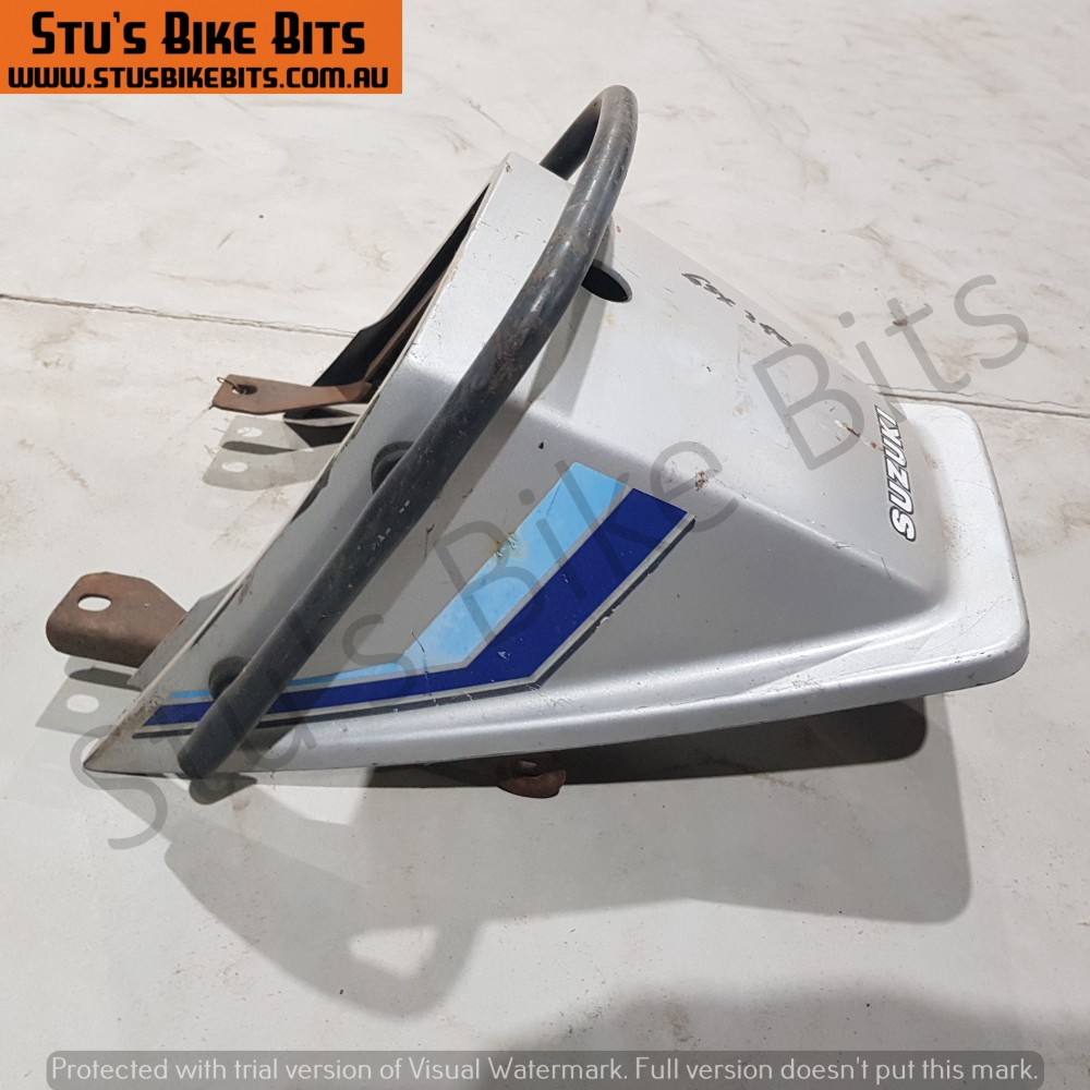 GSX250 - Rear ducktail fairing with grab handle SILVER #2