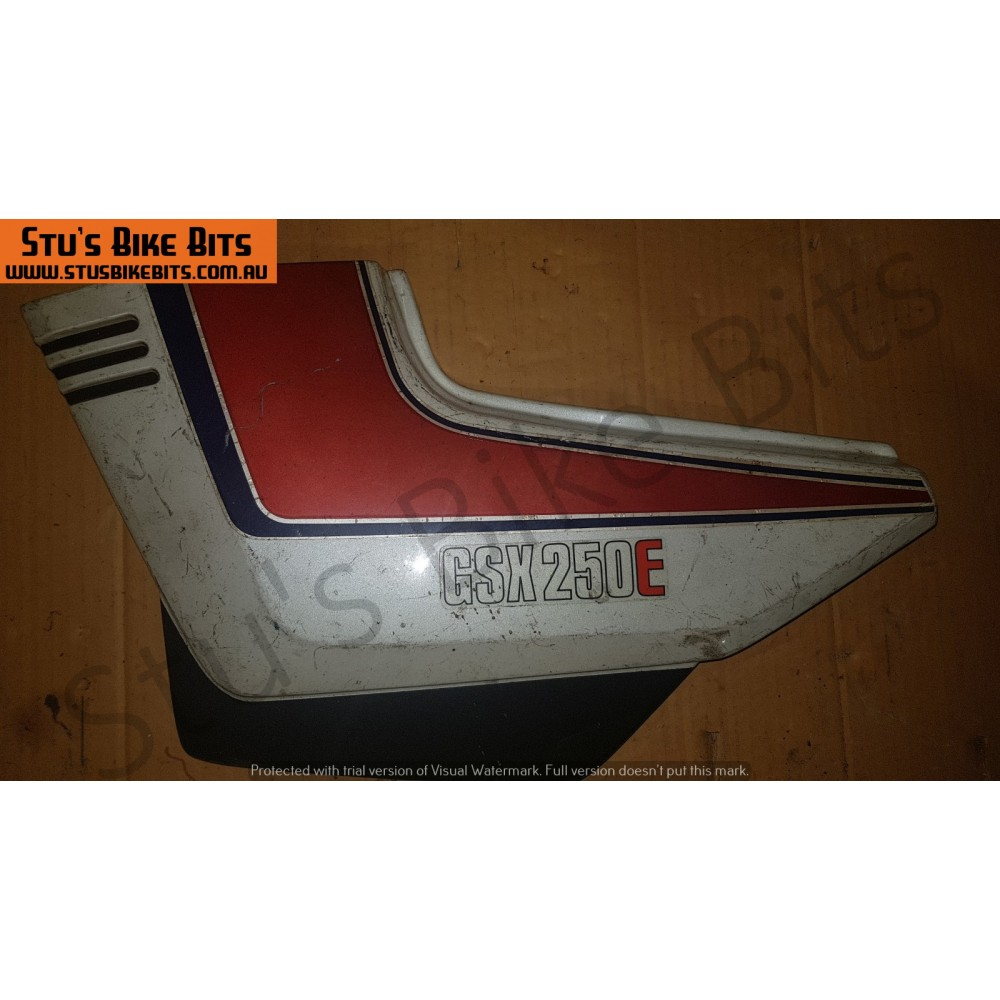 GSX250E - LH Side Cover WHITE