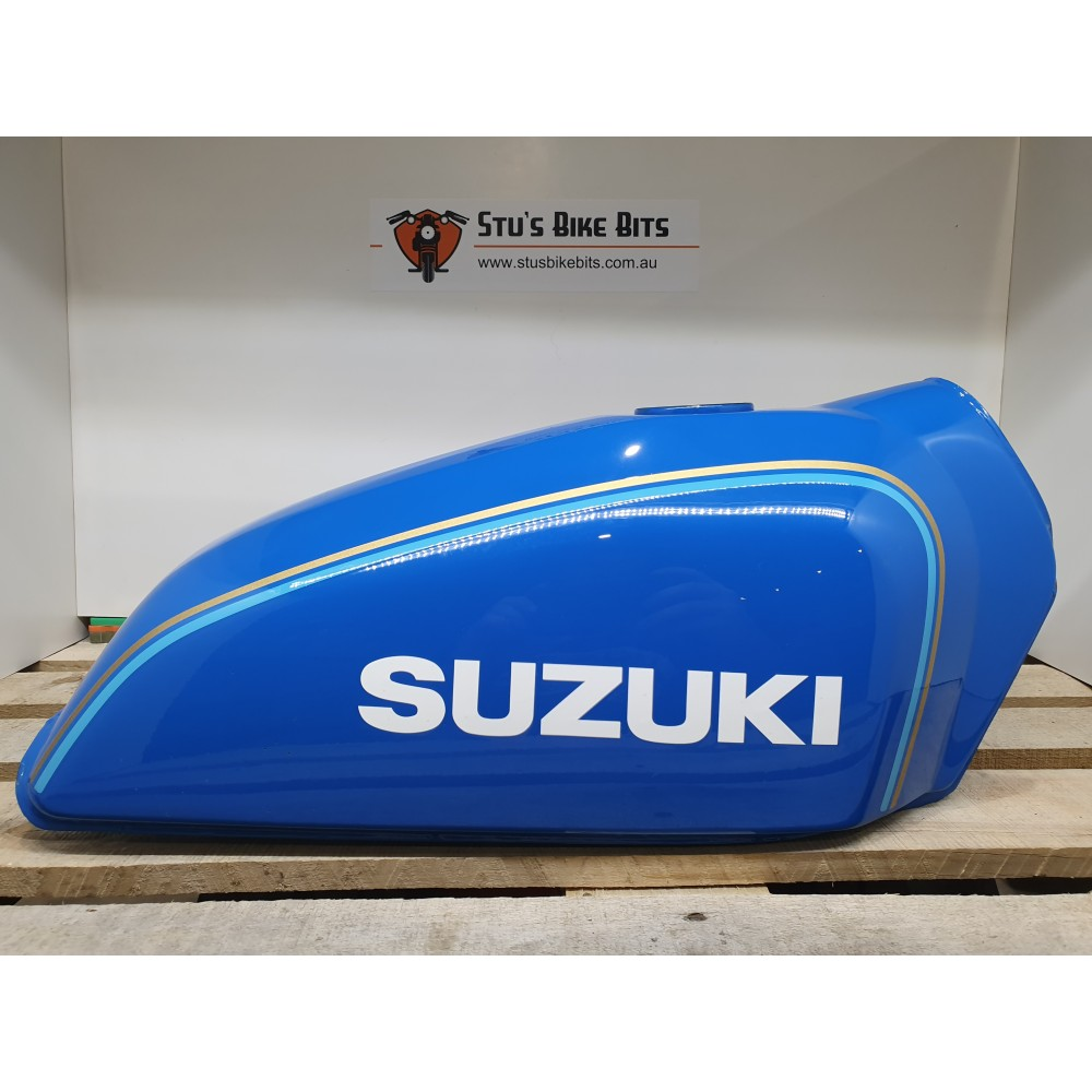 TS185 - Petrol Tank Fuel Tank Blue NOS DAMAGED