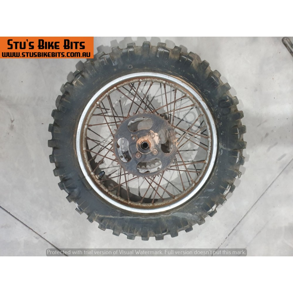 GT80 - Rear wheel with sprocket